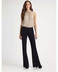 Theory | Black Jeldra Wool-blend Fit and Flare Pants | Lyst