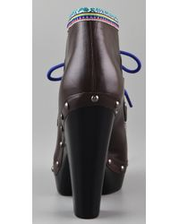 Belle By Sigerson Morrison Brown Eskimo Clog Booties