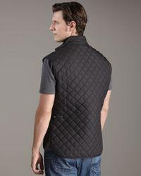 Belstaff Black Body Warmer Vest for men