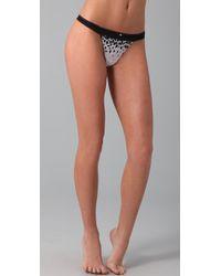 Calvin Klein | Black Naked Glamour String Thong | Lyst