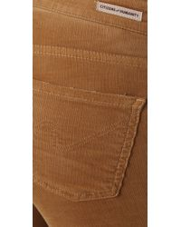 Citizens of Humanity | Brown Avedon Skinny Corduroy Pants | Lyst