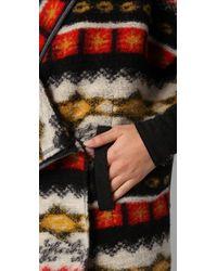 Dolan Black Collared Blanket Cardigan