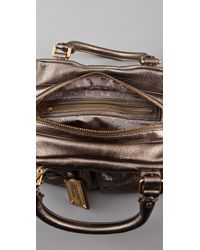 Marc By Marc Jacobs - Classic Q Metallic Baby Groovee Satchel - Lyst