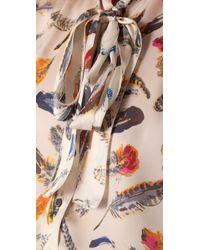 Rachel Roy | Multicolor Printed Tie-neck Blouse | Lyst