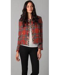 Rag & Bone Red Harvard Plaid Jacket