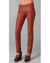 Roseanna | Orange Nash Slim Leather Pants | Lyst