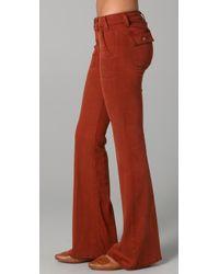 Textile Elizabeth and James Orange Neville Boot-cut Pants