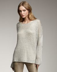 Vince | Metallic Knit Sweater | Lyst