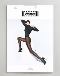 Wolford | Black Lara 20 Denier Striped Tights | Lyst