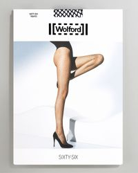 Wolford - Black Sixty-six Fine Fishnet Tights - Lyst