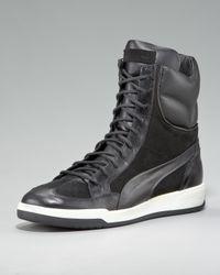 Alexander McQueen X Puma Black Feist Zip Hi-top Sneaker for men