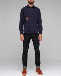 Folk - Blue Zevon Overshirt for Men - Lyst