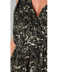 Joie Green Amelie Floral Ossie Dress