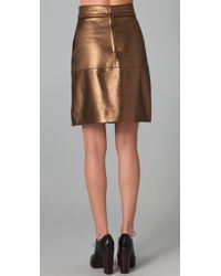 Marc By Marc Jacobs   Limelight Metallic Leather Skirt   Lyst