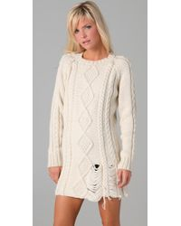 Pencey White Sweater Dress