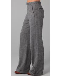 Rag & Bone Gray Kola Wide Leg Trousers