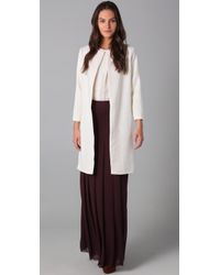Raoul | White Buttonless Coat | Lyst