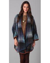 SUNO Blue Mohair Dolman Coat
