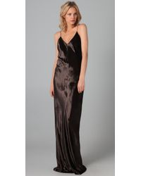 T By Alexander Wang | Black Panne Velvet Long Dress | Lyst