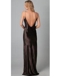 T By Alexander Wang   Black Panne Velvet Long Dress   Lyst