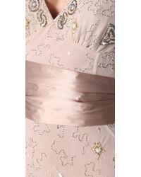 Temperley London Natural Long Honeysuckle Dress