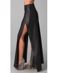 Theyskens' Theory Blue Sanga Long Layered Skirt