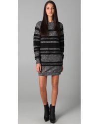 3.1 Phillip Lim Gray Sweatshirt Dress