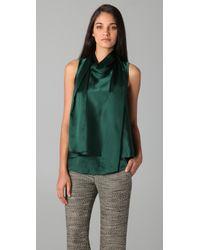 3.1 Phillip Lim | Green Layered Hem Silk Top | Lyst
