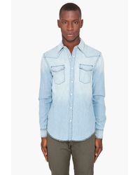 Acne Studios | Blue Texas Short Sleeve Shirt for Men | Lyst