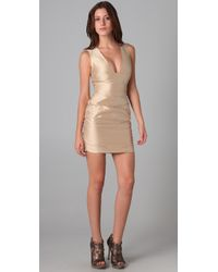 Bec & Bridge - Metallic Hutton Plunge Dress - Lyst