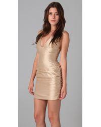 Bec & Bridge Metallic Hutton Plunge Dress