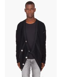 Fifth Avenue Shoe Repair Black Square Cardigan for men