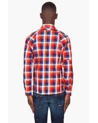 G-Star RAW - Blue Tunnel Louis Long Sleeve Plaid for Men - Lyst