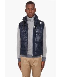 G-Star RAW Blue Belton Hooded Vest for men