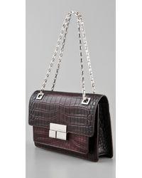 Michael Kors Brown Quinn Shoulder Flap Bag