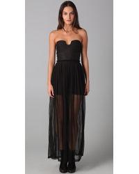 Shakuhachi Black Dont Mesh with Me Maxi Dress