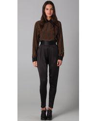 Shakuhachi | Black Luxe Utility Draped Pants | Lyst