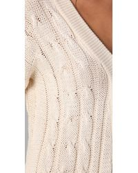 Shakuhachi Natural Cable Knit Playsuit