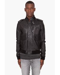 Surface To Air Black Blade Bomber Jacket for men