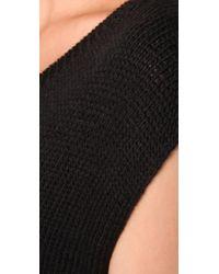 T By Alexander Wang Black Chunky Acrylic Wool Muscle Tunic Dress