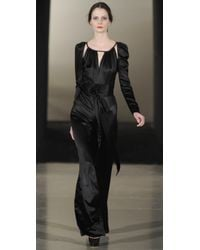 Temperley London | Black Stockdale Silk-satin Jumpsuit | Lyst