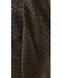 Twelfth Street Cynthia Vincent Green Berkeley Snake Print Tote Bag