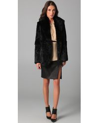VEDA Black Elvis Leather Skirt