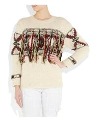 Isabel Marant   Beige Yoan Wool-mix Instarsia Sweater   Lyst