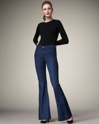 J Brand Blue Loni Waterloo High-rise Flared Jeans