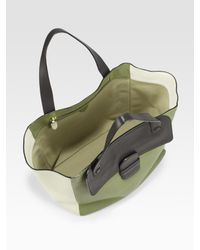 Marc Jacobs Green Colorblock Tote Bag