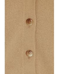 Ralph Lauren Collection   Natural Shearling-collar Cardigan   Lyst