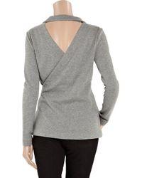 T By Alexander Wang | Gray Cutout Cotton-jersey Blazer | Lyst