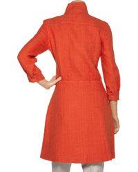 Tibi Orange Bouclé Cotton-blend Coat