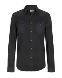 Acne Studios | Deep Blue Texas Denim Shirt for Men | Lyst